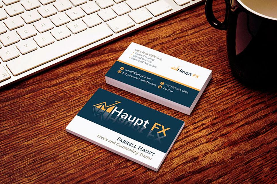 Business Card Design - HauptFX - Elevation Design Studio